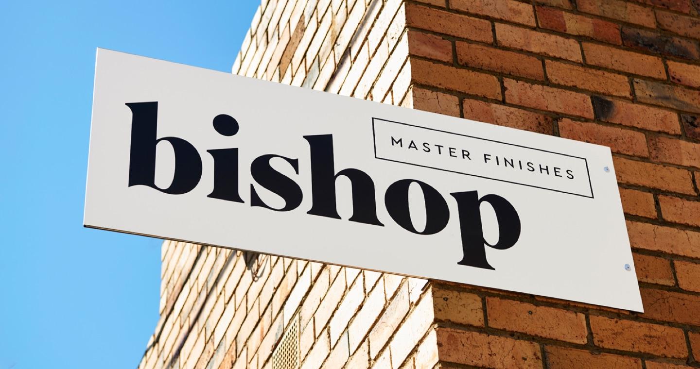 bishop master finishes signage at the warehouse