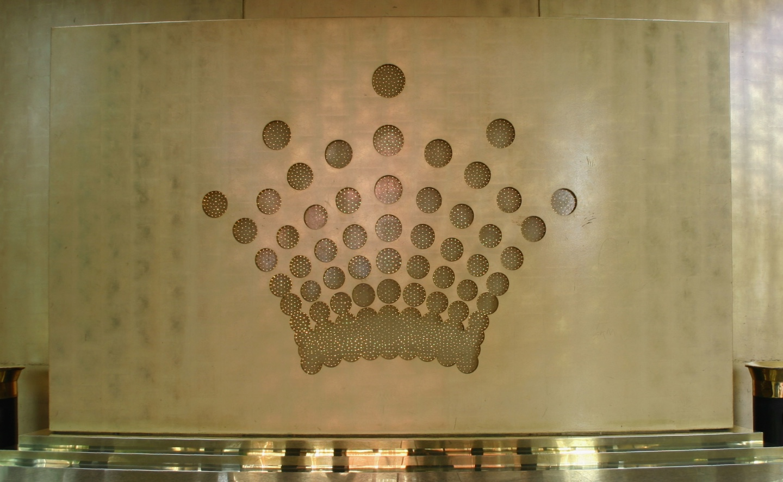 Gold leaf finish crown casino
