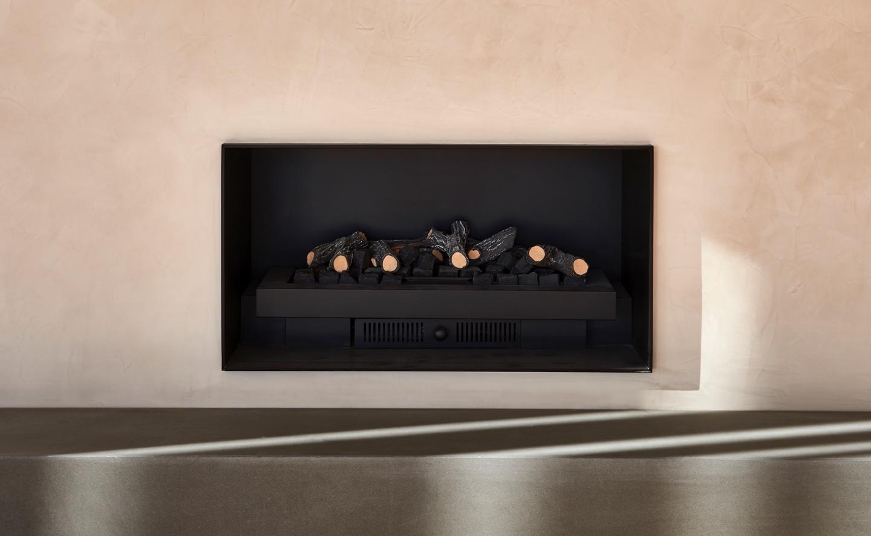 Polished plaster fireplace in blush tones lindsay st