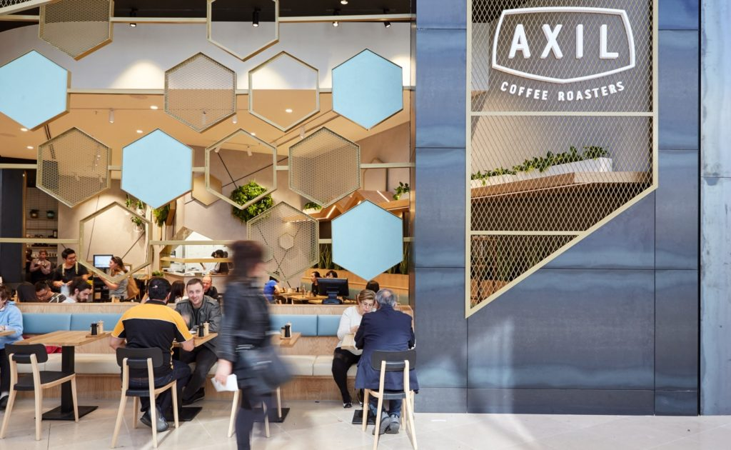 axil coffee roasters chadstone concrete wall finish