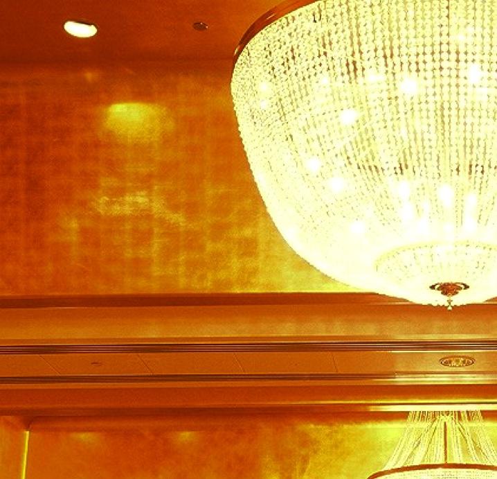 Gold Leaf ceiling at Crown Melbourne