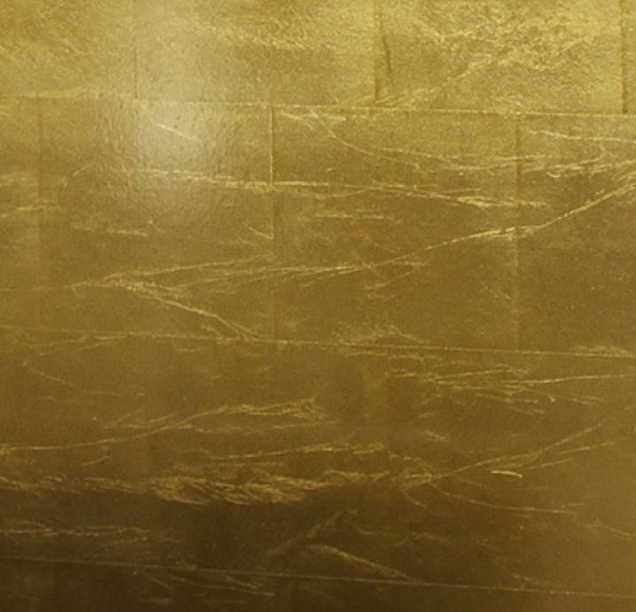 Closeup of gold leaf sample