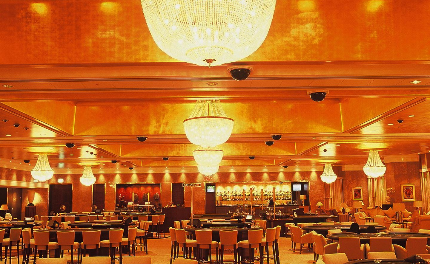 Lucky Gold leaf ceiling at Crown Casino Macau Melbourne Mahogany room