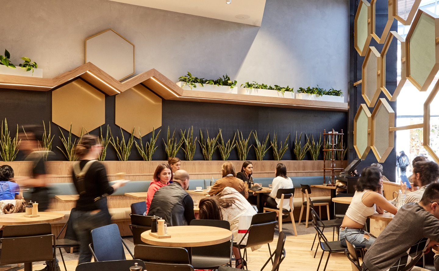 Axil coffee chadstone wall finish concrete kelso