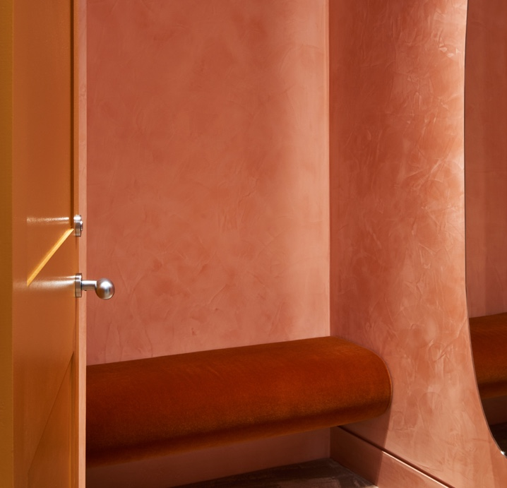 Polished Plaster change rooms at Mulberry Luxury finishes
