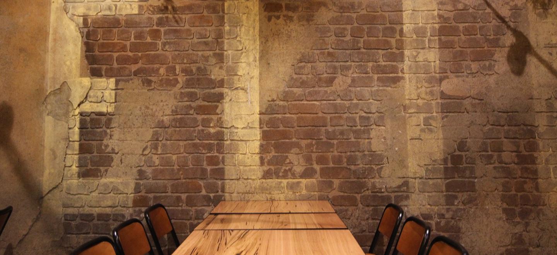 Custom wall finish distressed brick