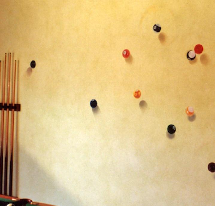 Custom wall finish Mural art of pool table